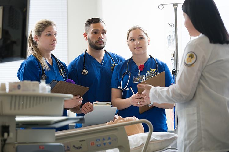 Wilkes nursing students